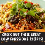 Recipes for low emission diet