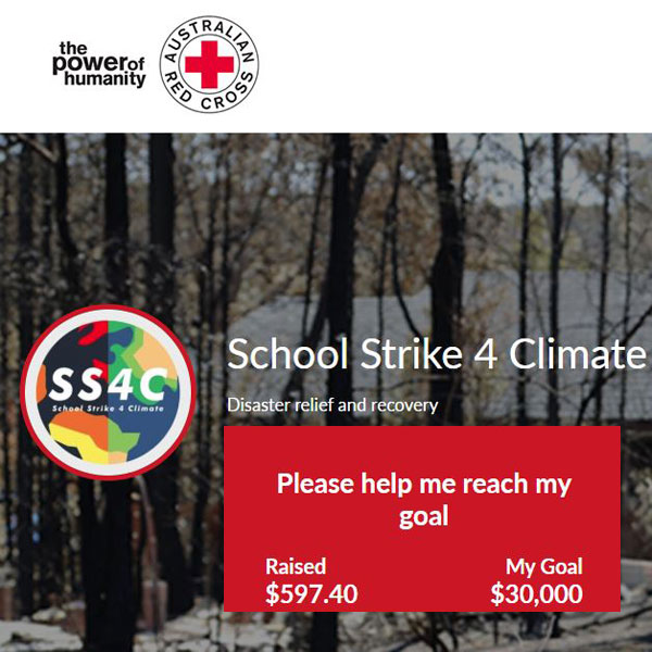 School Strike 4 Climate Red Cross Fundraiser